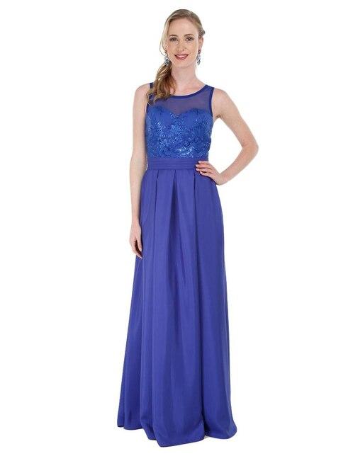 Vestido azul rey para gordita