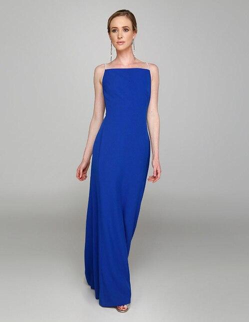 4cf4b3526e Vestido Karl Lagerfeld Paris azul noche