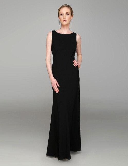 Vestido negro brilloso corto