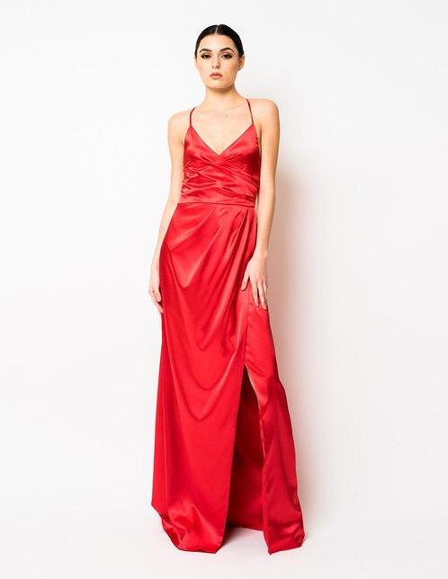 f0dd3575864 Vestido Rue de la Paix rojo de noche