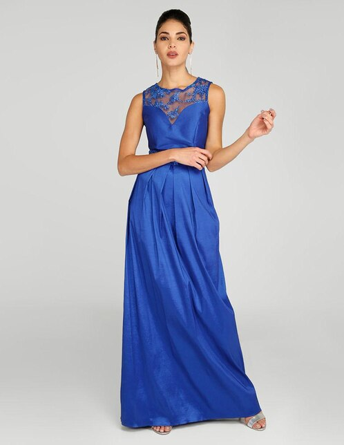 Vestidos largos azul marino para gorditas