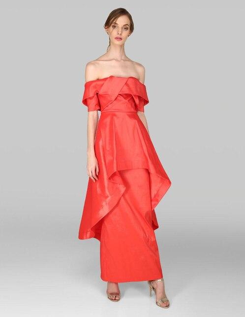 8b6bad465 Vestido de noche Rue de la Paix rojo