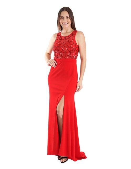 d4960d312f Vestido Ema Valdemossa rojo de fiesta
