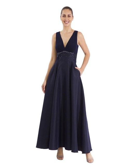 7d47d2c332a Vestido Rue de la Paix azul marino noche