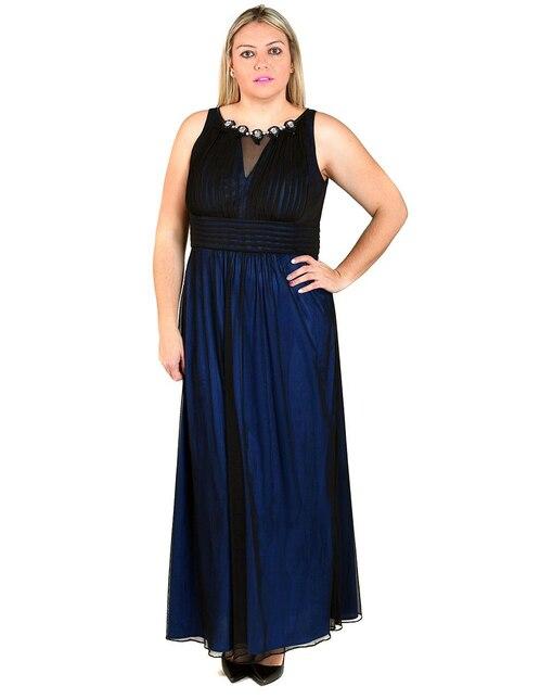 649726fed1 Vestido Rue de la Paix azul noche pedrería