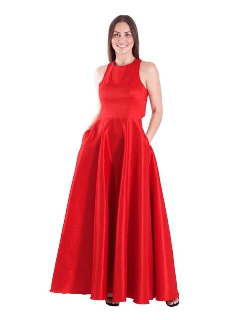 9446c455e Vestido Rue de la Paix rojo de noche