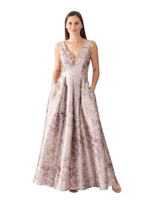 b57576661 Vestido Ema Valdemossa con diseño gráfico de noche