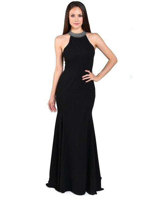 4afff3727 Vestido de noche Rue de la Paix negro con pedrería