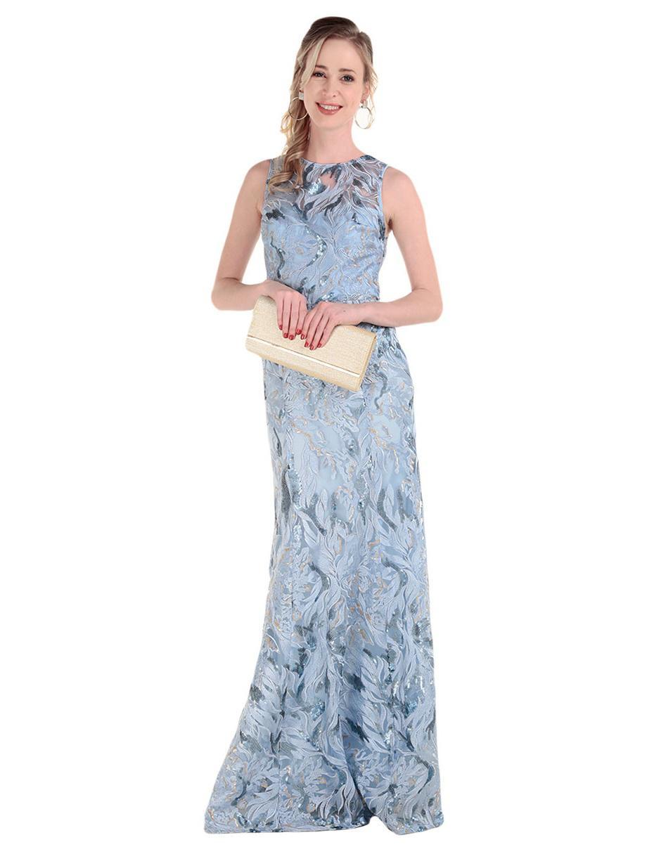 Vestido Texturizado Ivonne Couture Azul En Liverpool