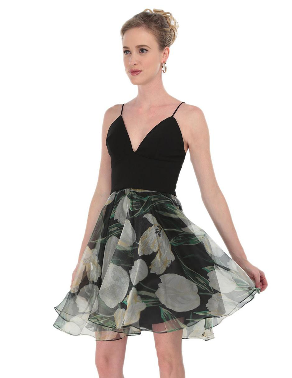 Vestido Liso Rue De La Paix Negro