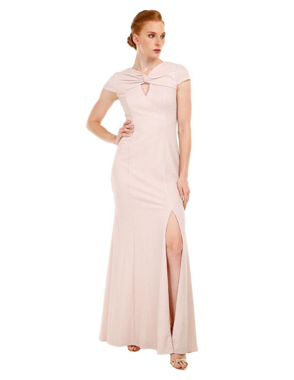 d672f810d Vestido texturizado Adrianna Papell rosa claro
