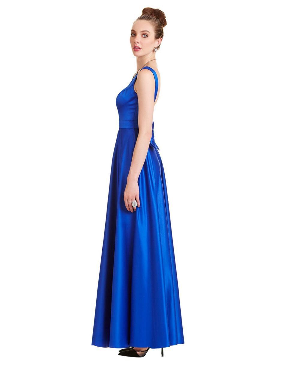 8f1e0c3b1 COMPARTE ESTE ARTÍCULO POR EMAIL. Vestido liso Eva Brazzi azul rey