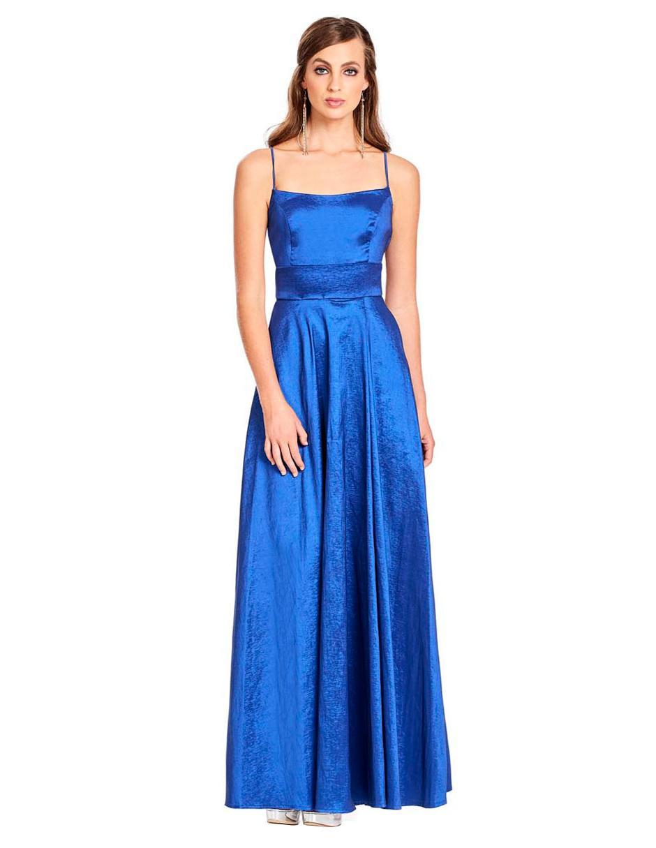 e09aa515b Vestido liso Eva Brazzi azul rey
