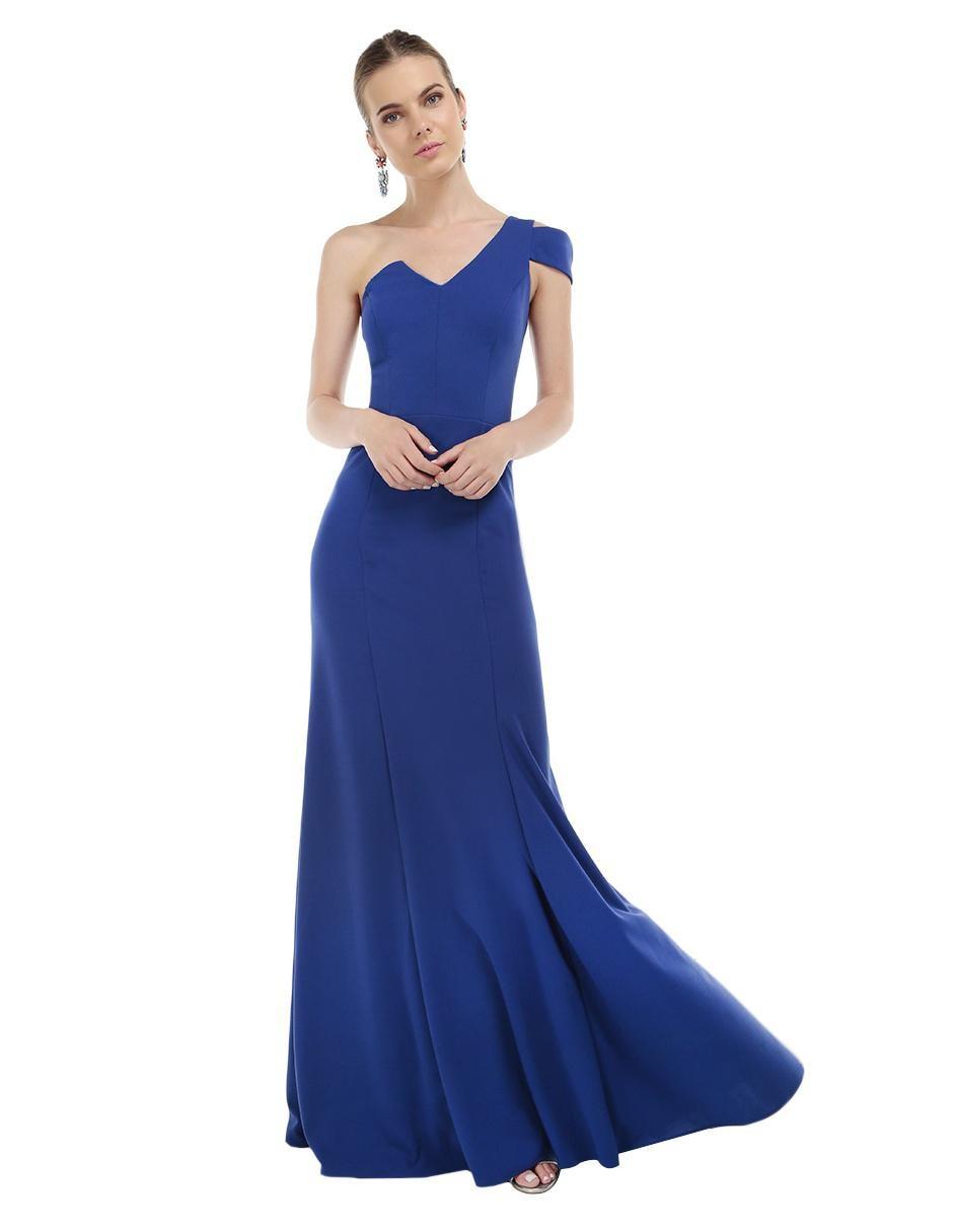 Vestidos de noche largos color azul rey