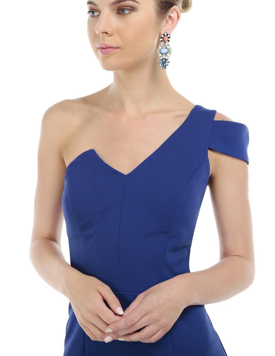 Vestido Rue De La Paix Azul Rey Noche
