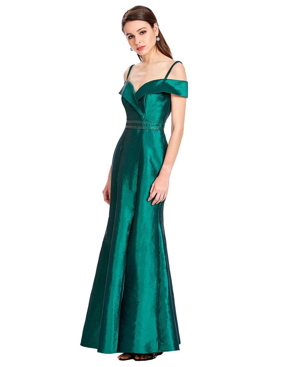 Vestido Liso Eva Brazzi Verde