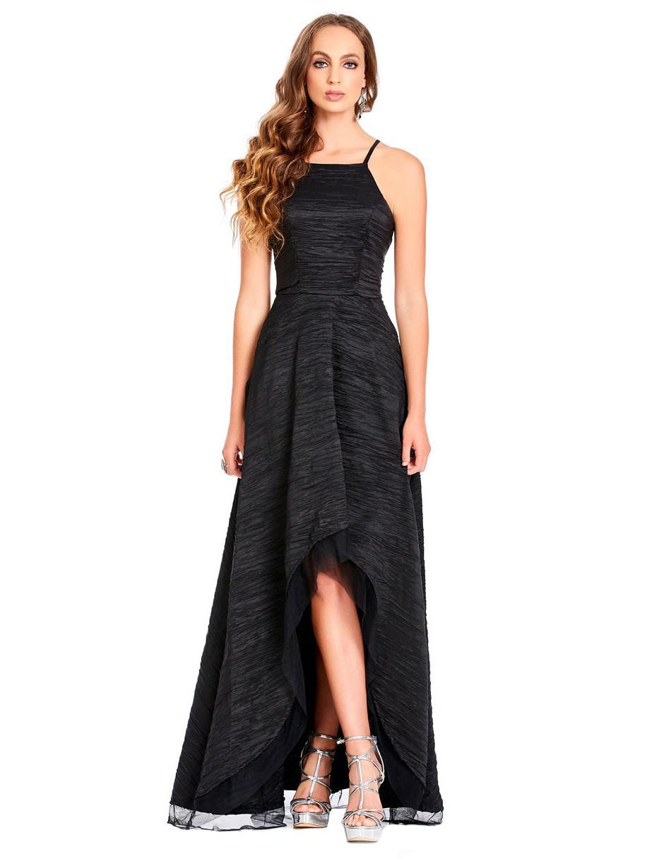 29a95fee5e Vestido texturizado Eva Brazzi negro