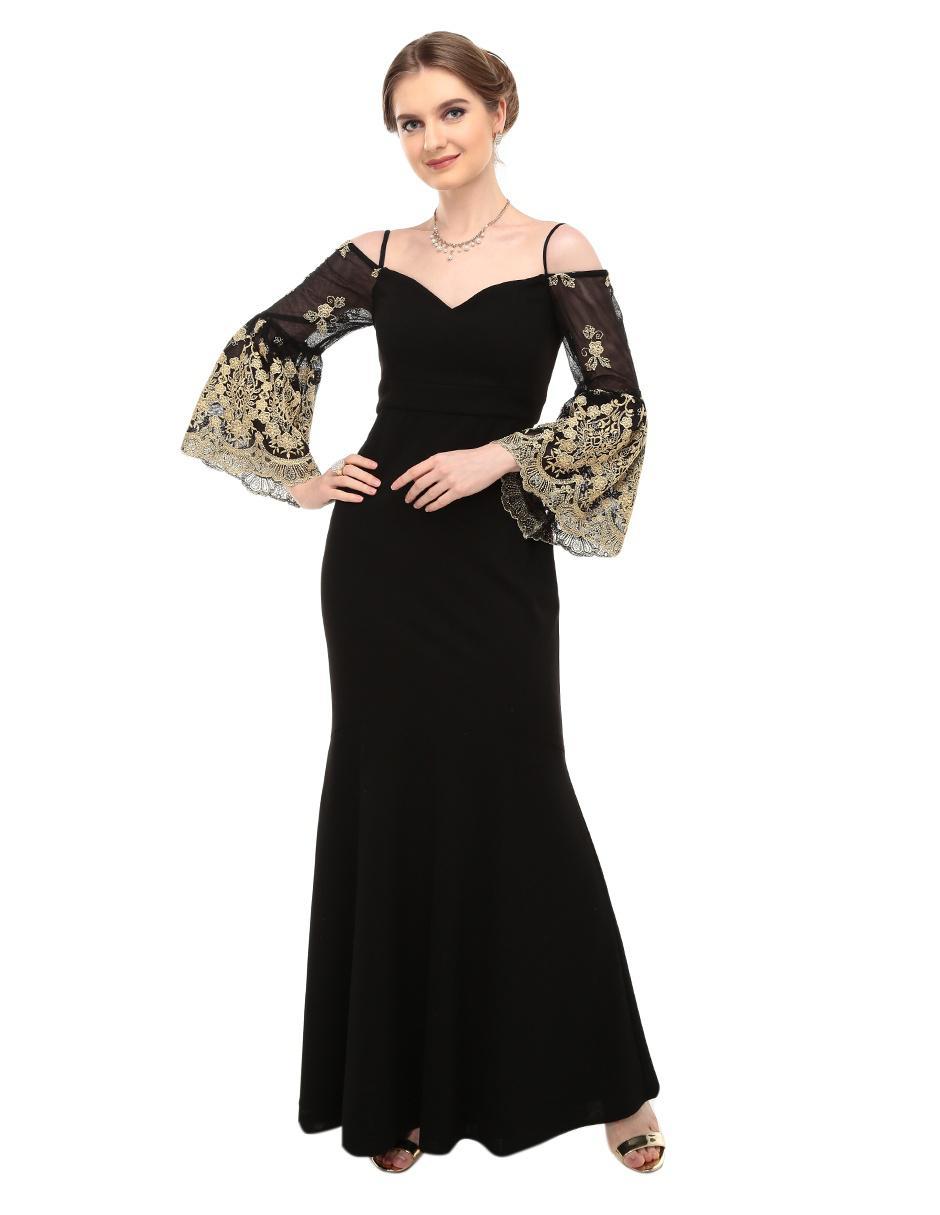 2d331277a Vestido Rue de la Paix negro noche