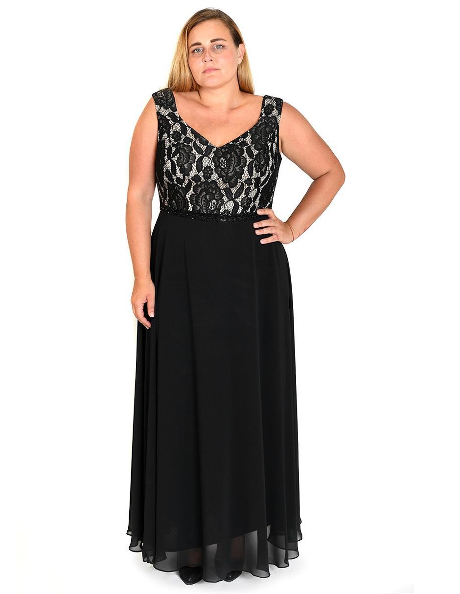 Vestido Rue De La Paix Negro Noche Encaje