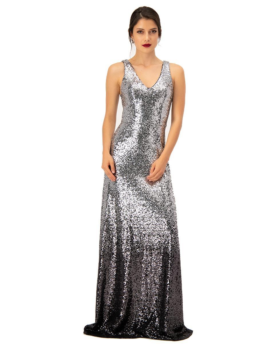 Vestido Ivonne Couture Plateado