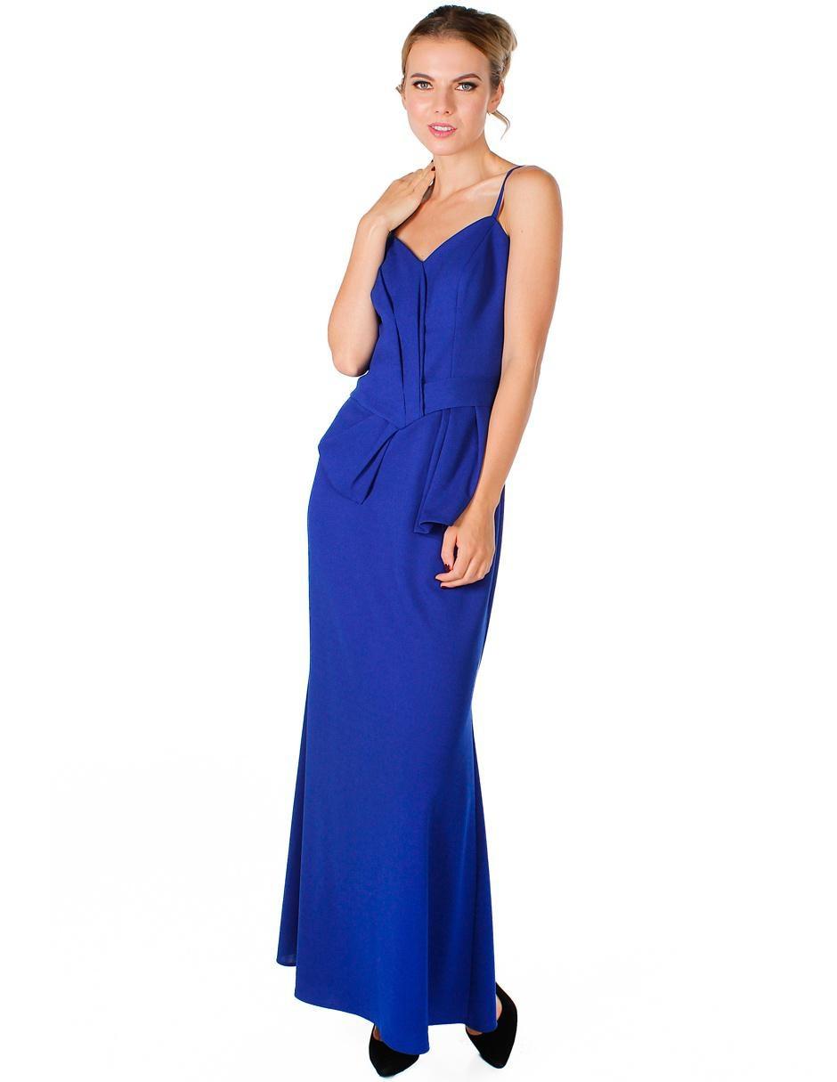 bb8281f7b Vestidos De Noche Azul Rey Con Encaje | Wig Elegance