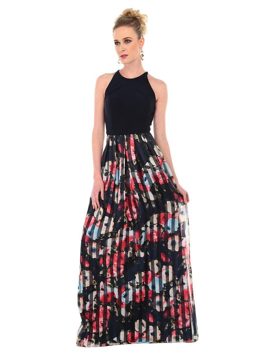 Vestido Rue De La Paix Con Diseño Floral Noche