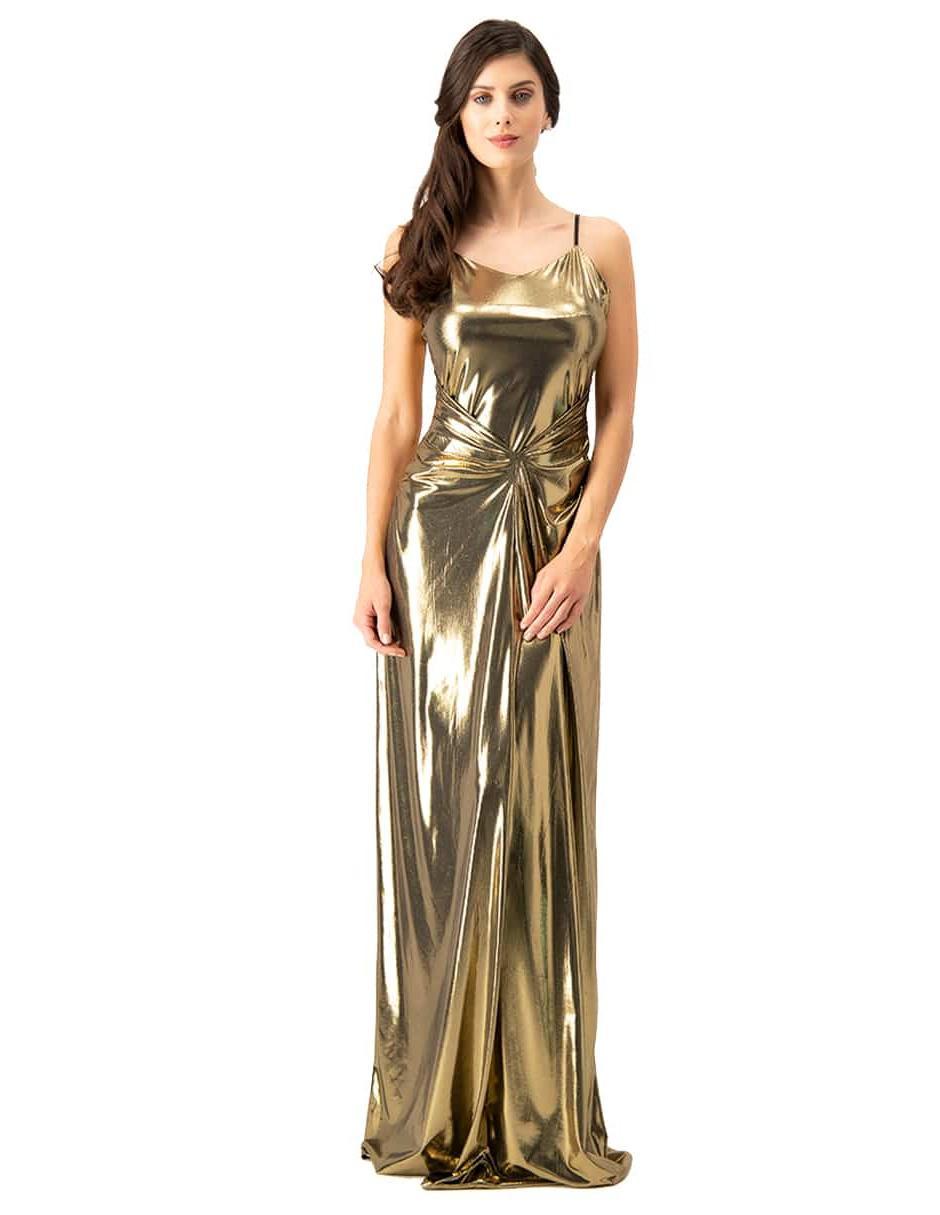 Vestido Ivonne Couture Color Oro Formal En Liverpool