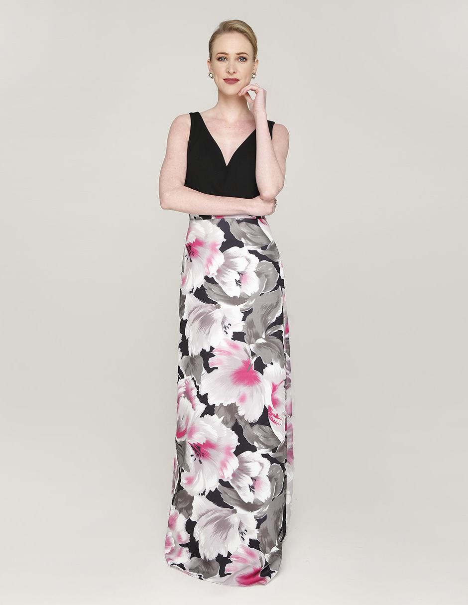 33c3a57ce Vestido Rue de la Paix con diseño floral de noche