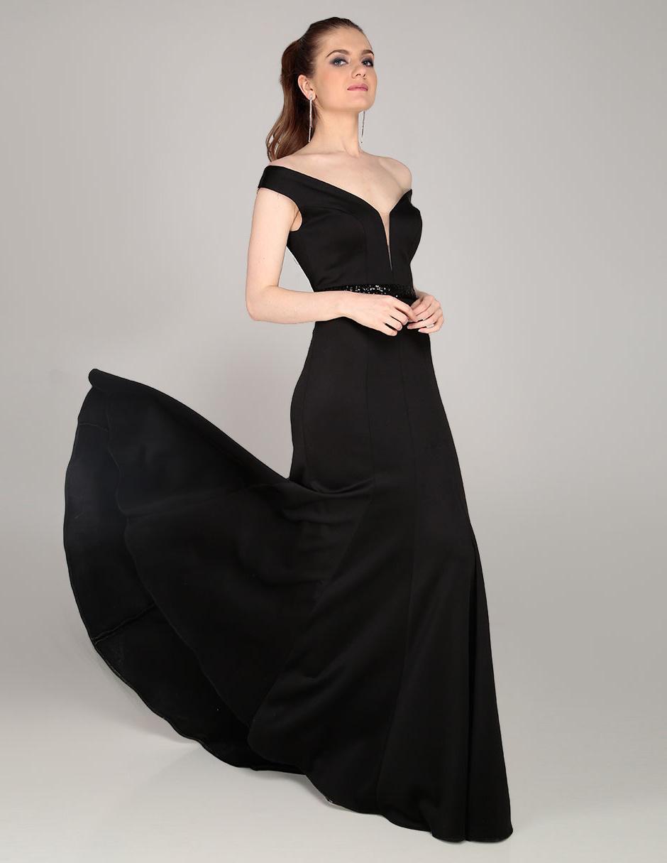 Vestido Rue De La Paix Negro Noche