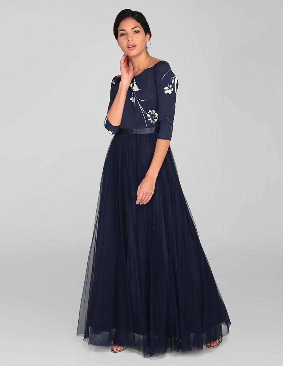 Vestido Rue De La Paix Azul Marino Noche