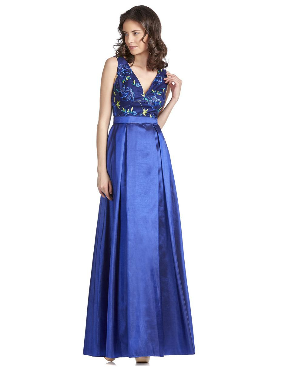 Vestido Brazzi J Azul Rey Bordado