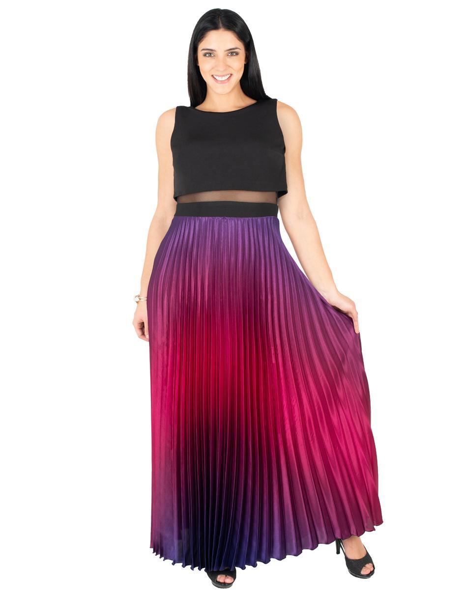 Vestido Rue De La Paix Morado De Noche Con Degradado De Color