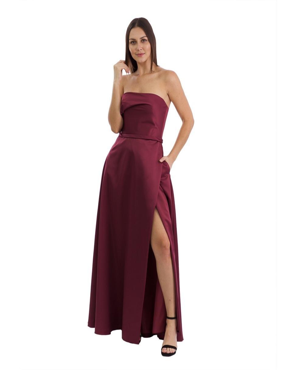 Vestido Rue De La Paix Vino De Noche Con Bolsillos