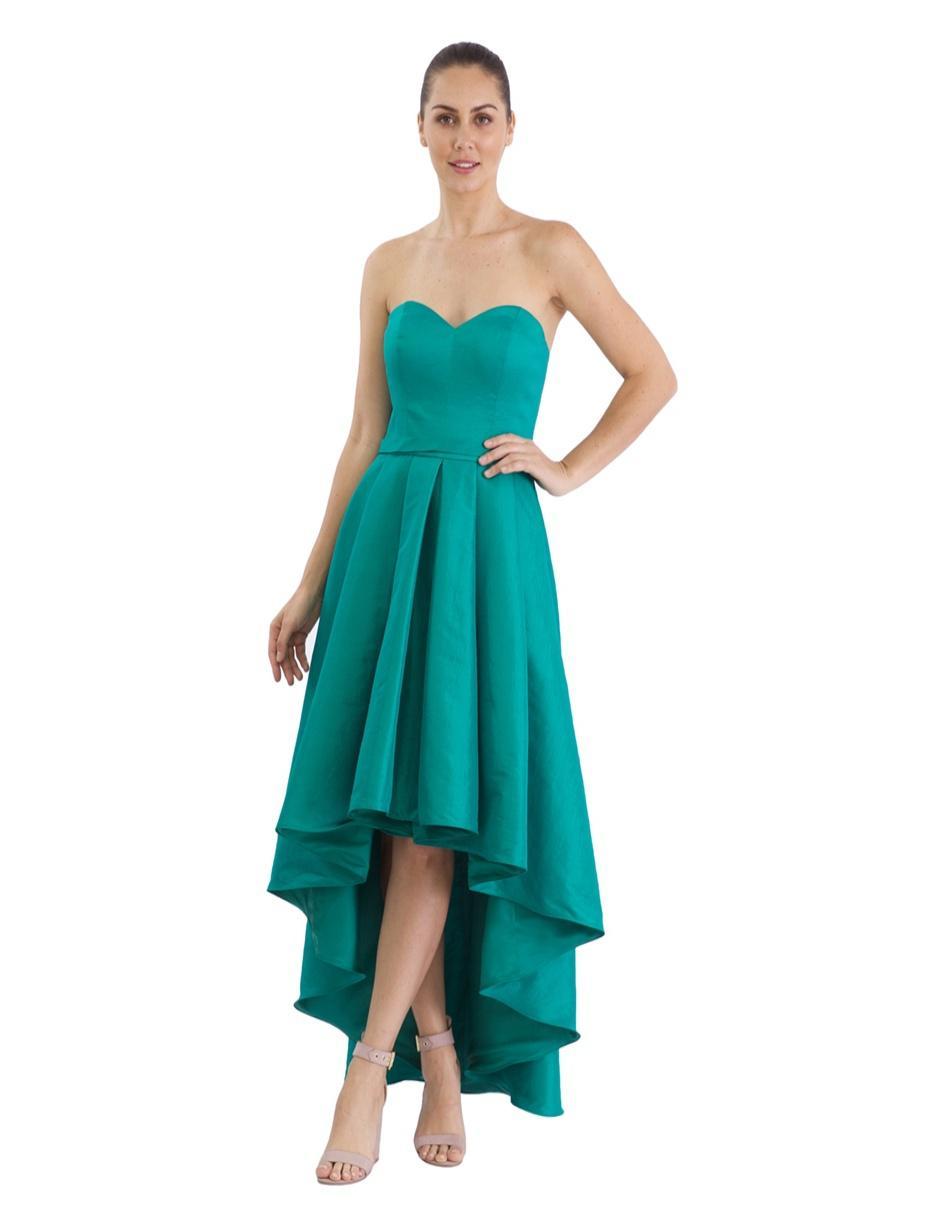 Vestido Rue De La Paix Verde Esmeralda De Noche