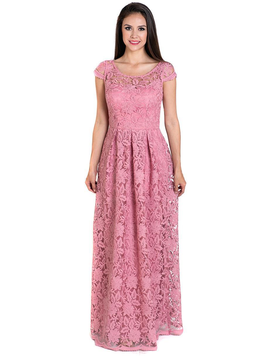 Vestido Rue De La Paix Rosa De Encaje