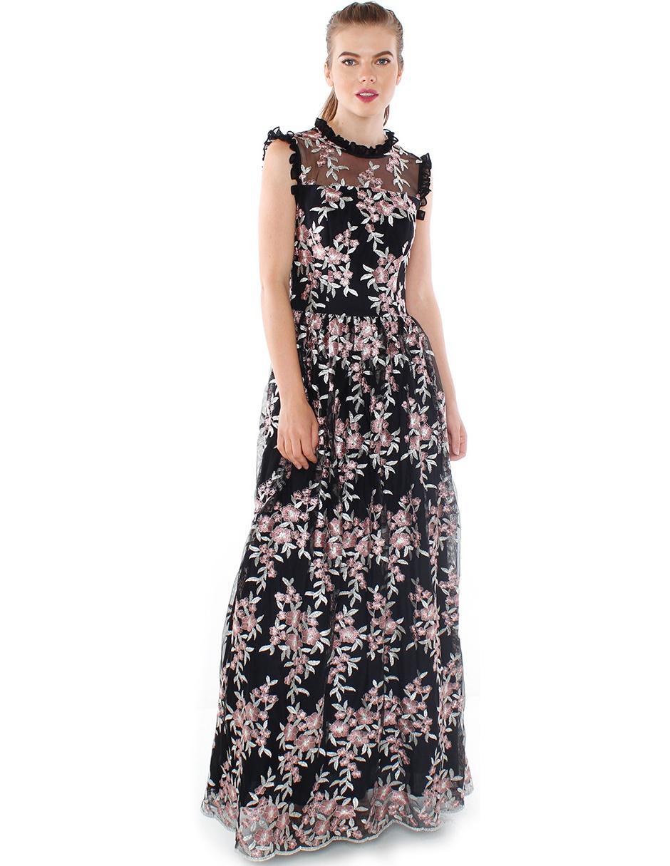 cd3ad25e1 Vestido Rimini Couture con diseño floral noche
