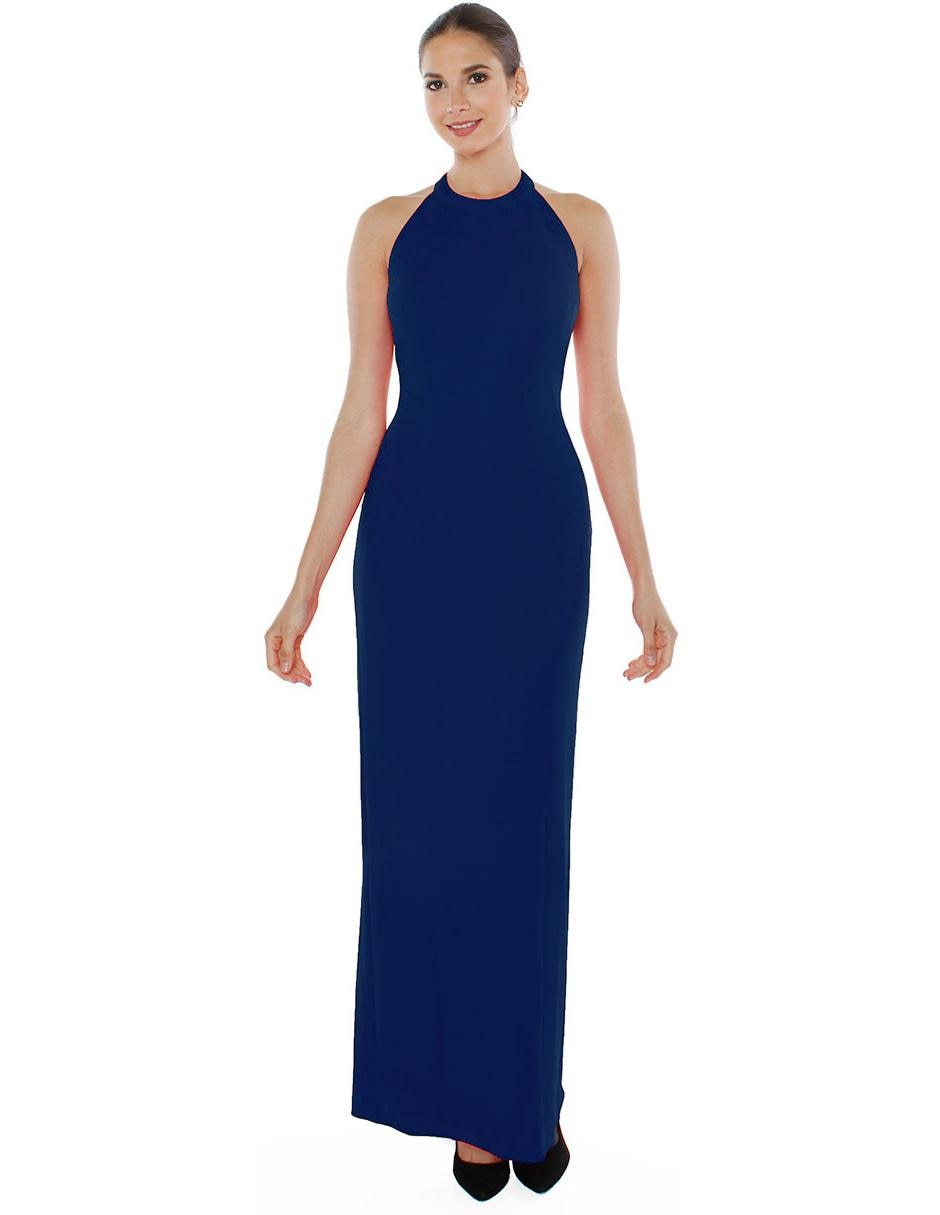 Un vestido azul rey