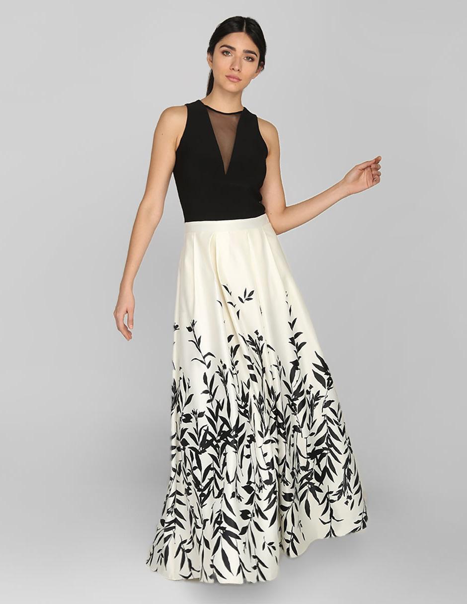 Vestido De Noche Rue De La Paix Con Diseño Gráfico