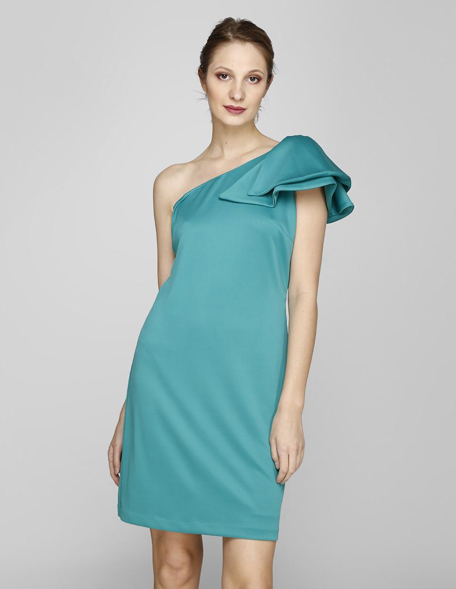 Vestido De Noche Rue De La Paix Turquesa