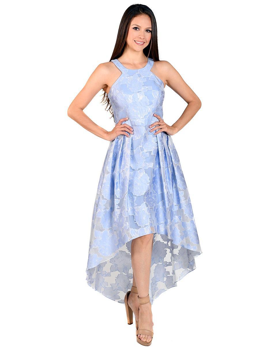 50805a5cf Vestido Rue de la Paix azul con diseño floral noche