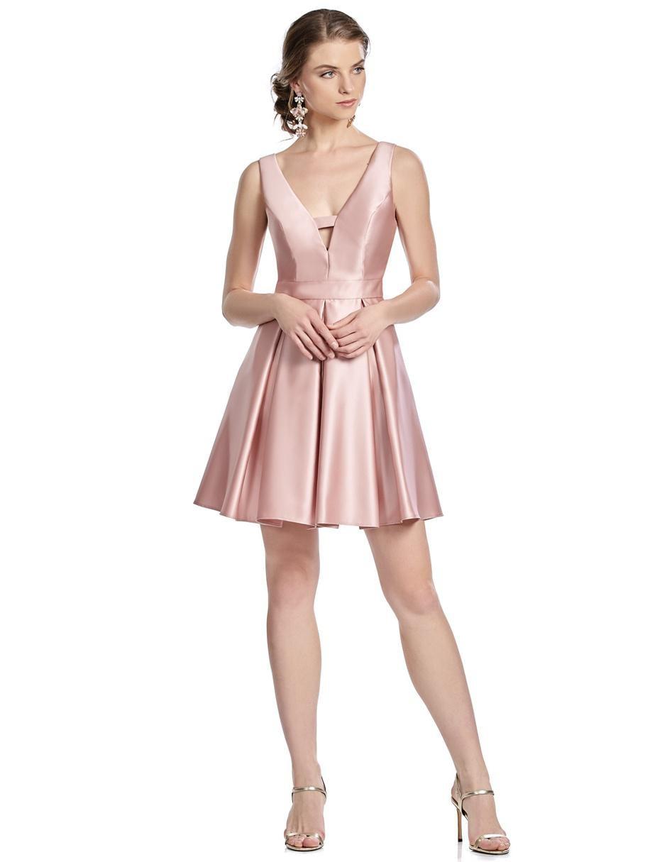 dcf9a3a388 Vestido Eva Brazzi Cocktail rosa
