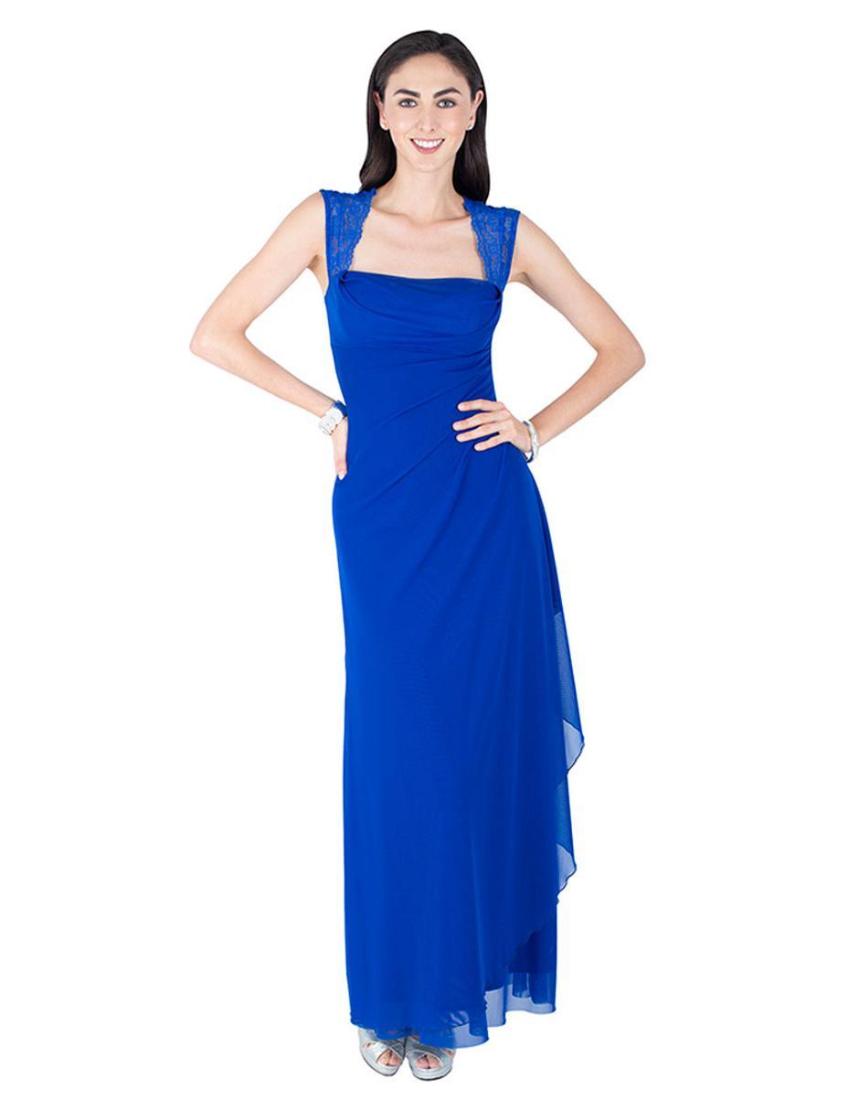 Vestido Rue De La Paix Azul Rey De Fiesta