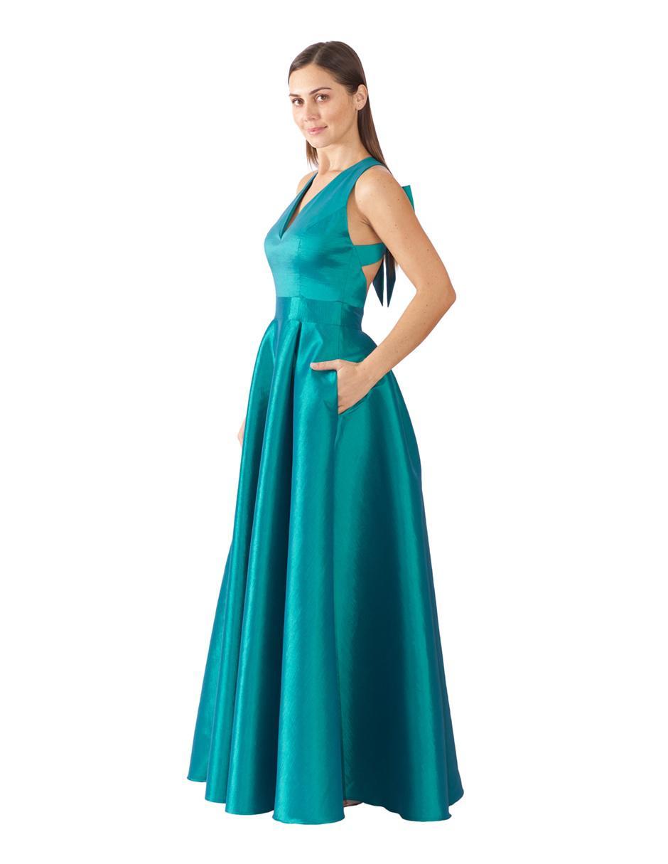 Vestido De Noche Rue De La Paix Verde Esmeralda