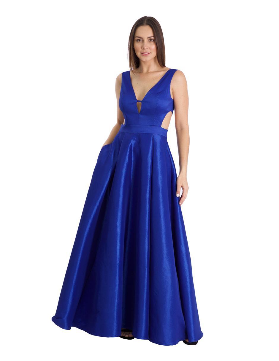 Vestido De Noche Rue De La Paix Azul Rey