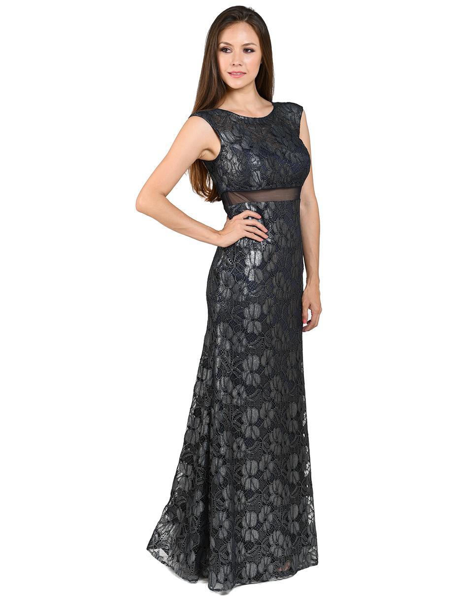 Vestido De Noche Rue De La Paix Negro De Encaje