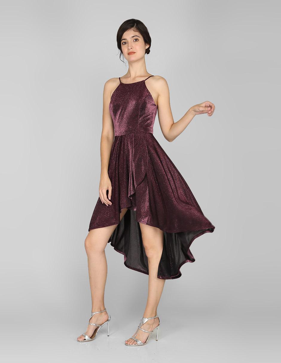 Vestido De Cocktail Rue De La Paix Vino Con Lurex